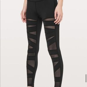 Rare limited edition lululemon high times mesh black legging-2